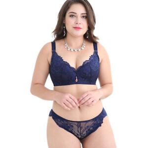 e95fd0ae21 Plus Size Bras Set for Women Sexy Lingerie Set Lace Underwear Bra ...
