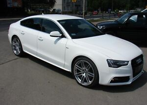 audi a5 sportback side skirts bars s line look ebay. Black Bedroom Furniture Sets. Home Design Ideas