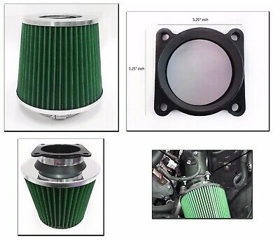 MAF Adapter For 1995-1999 Nissan Sentra 1.6L L4 Green Cold Air Intake Filter