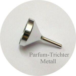 Metall-Parfumtrichter-Nachfuelltrichter-Trichter-silber-f-Taschenzerstaeuber