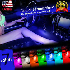 4xRGB 12LED Remote Control Car Interior Floor Decor amosphere Light Strip lights