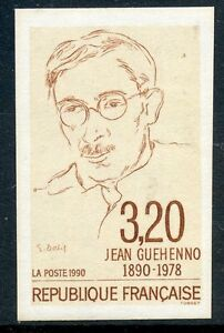 STAMP-TIMBRE-DE-FRANCE-NEUF-NON-DENTELE-N-2641-JEAN-GUEHENNO