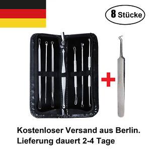 8-Stuecke-Mitesserentferner-Komedonenquetscher-Set-Nagelhautscheiber-Pinzette