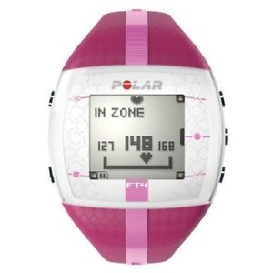 POLAR-FT4F-HEART-RATE-MONITOR-WATCH-Ladies-PURPLE-PINK-NEW-CHEST-STRAP-FT4-FT4M