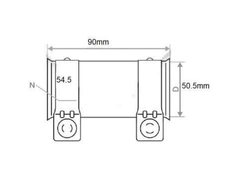 5 Stück Rohrverbinder Doppelschelle Auspuff Abgasanlage Ø 50,5 mm x Länge 90 mm