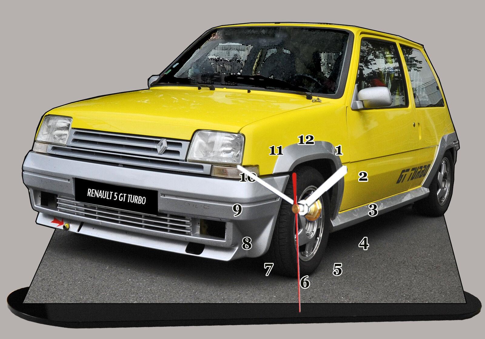 bil RENAULT 5 GT TURBO, R5 GT TURBO -03 bil IN guldLOGIO MINIATURA
