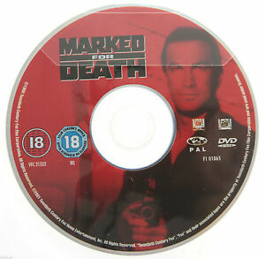 Marked-For-Death-DVD-R2-PAL-Steven-Seagal-DISC-ONLY-in-Plastic-Sleeve