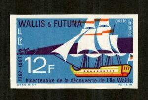 Wallis-et-Futuna-Stamps-C29-XF-OG-NH-Imperf