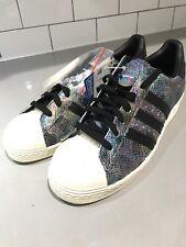 half off 44a5d f527d adidas Originals Superstar 80s Black Leather Snakeskin Mens ...