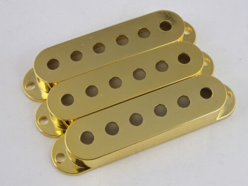 PICKUP COVERS in CHROME or GOLD Metallic 50mm or 52mm to fit Stratocaster guitar
