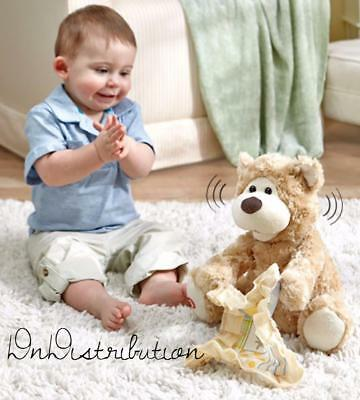 Peek A Boo Bear Animated Talking Moving Stuffed Animal Great Toddler Gift NEW