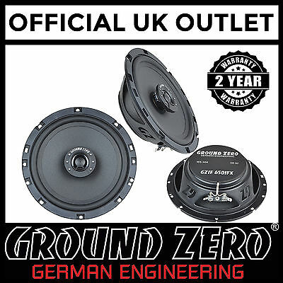 "Ground Zero Iridium GZIF 65X 120 Watts 17cm 6.5/"" 2 Way Coaxial Car Speakers"