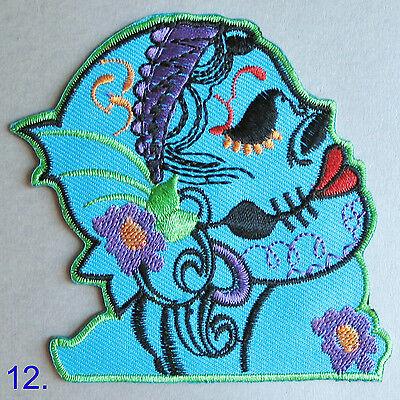 Sugar Skull Iron On/ Sew Cloth Patch Badge mexico day of the dead día de muertos