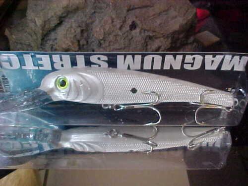 Pearl White//Black Department of Transportation BigFish Trolling Lure T30-10 MANN/'S Texturé Stretch 30