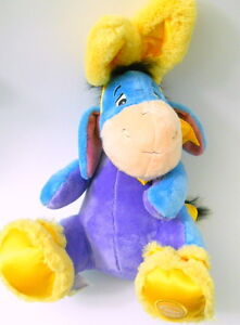 2b702fe17eed Disney Eeyore Yellow Bunny Rabbit Ears Booties Plush Stuffed Animal ...