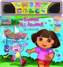 Dora the Explorer: Sounds All Around (Stereo Sound Book) (Board book) VG