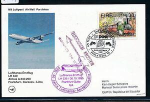 81749-LH-FF-Frankfurt-Quito-30-10-95-sp-card-Irland-Aufl-SPA-Koeln