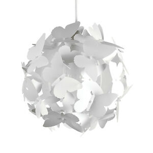Modern white butterfly cluster ceiling pendant light lamp shade image is loading modern white butterfly cluster ceiling pendant light lamp aloadofball Image collections