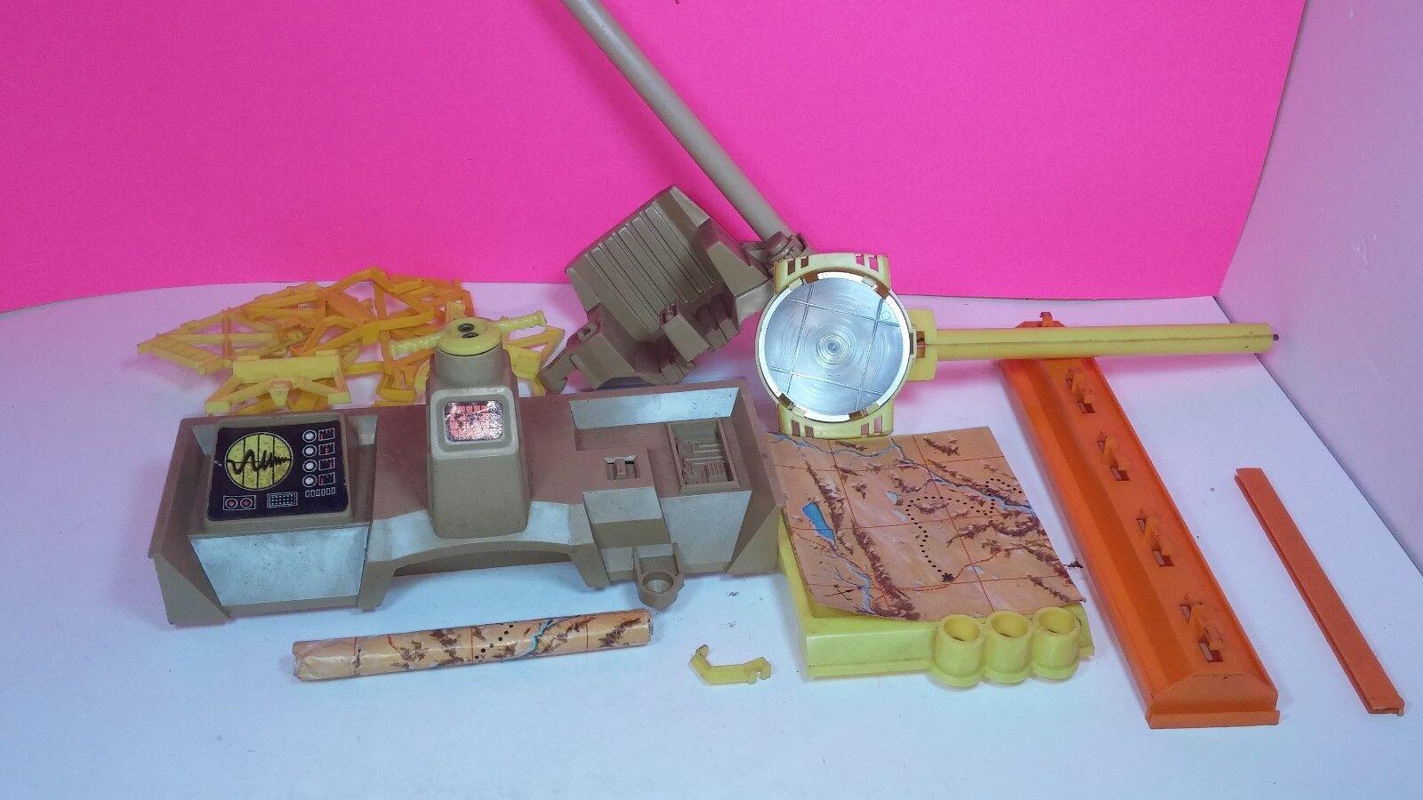 Gi Joe Adventure Team Headquarters Vintage Action Figure Parts Lot