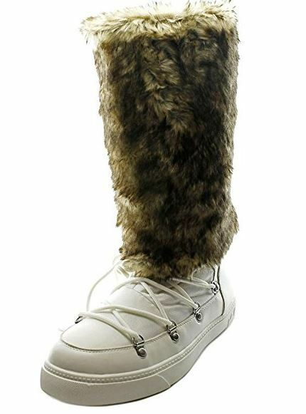 INC International Concepts Soffy Women US 5 White Winter Boot