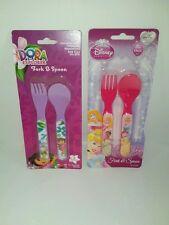 Disney Princess Cinderella Pink Toddler Baby Flatware Set Fork Spoon NIB #DZ
