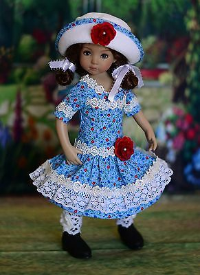 """Summer Sky"" Dress, Outfit for 13"" Dianna Effner Little Darling"