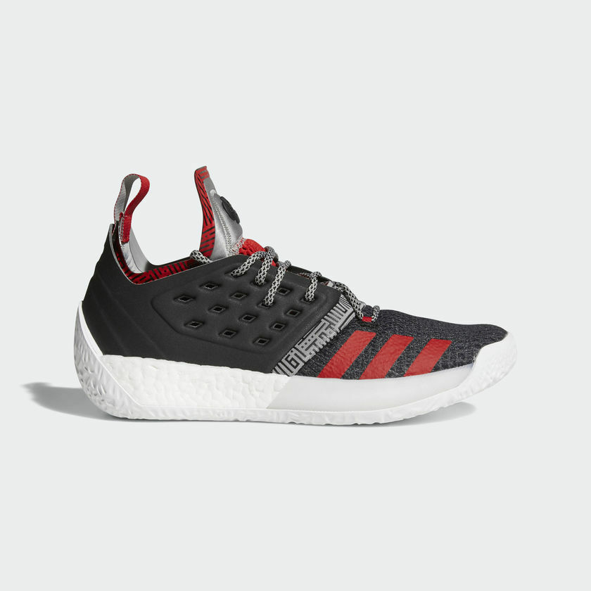 Adidas James Harden Vol. Volume 2 Pioneer Core Black Grey Scarlet Red AH2123
