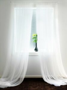 Image is loading IKEA-Sheer-White-Curtains-8-Panels-Lill-Bed- & IKEA Sheer White Curtains 8 Panels Lill Bed Mesh 110