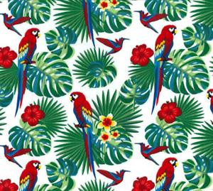 100/% Coton Popeline Tissu Rose /& Hubble perroquets Rain Forest