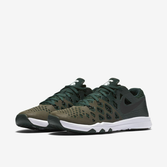 Nike Train Speed Amp 4 Michigan State Spartans 844102 Green Runner Shoes 10.5