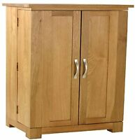 Carne Oak Small Dvd/cd Storage Cupboard / Cabinet / Storage