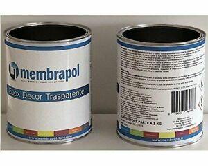 Membrapol Epox Decor Resina Epossidica Trasparente Auto Livellante 1,6kg - Transparente