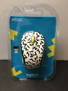 Details about Logitech M325C Brand New Wireless Mouse Yellow ZigZag  910-004689