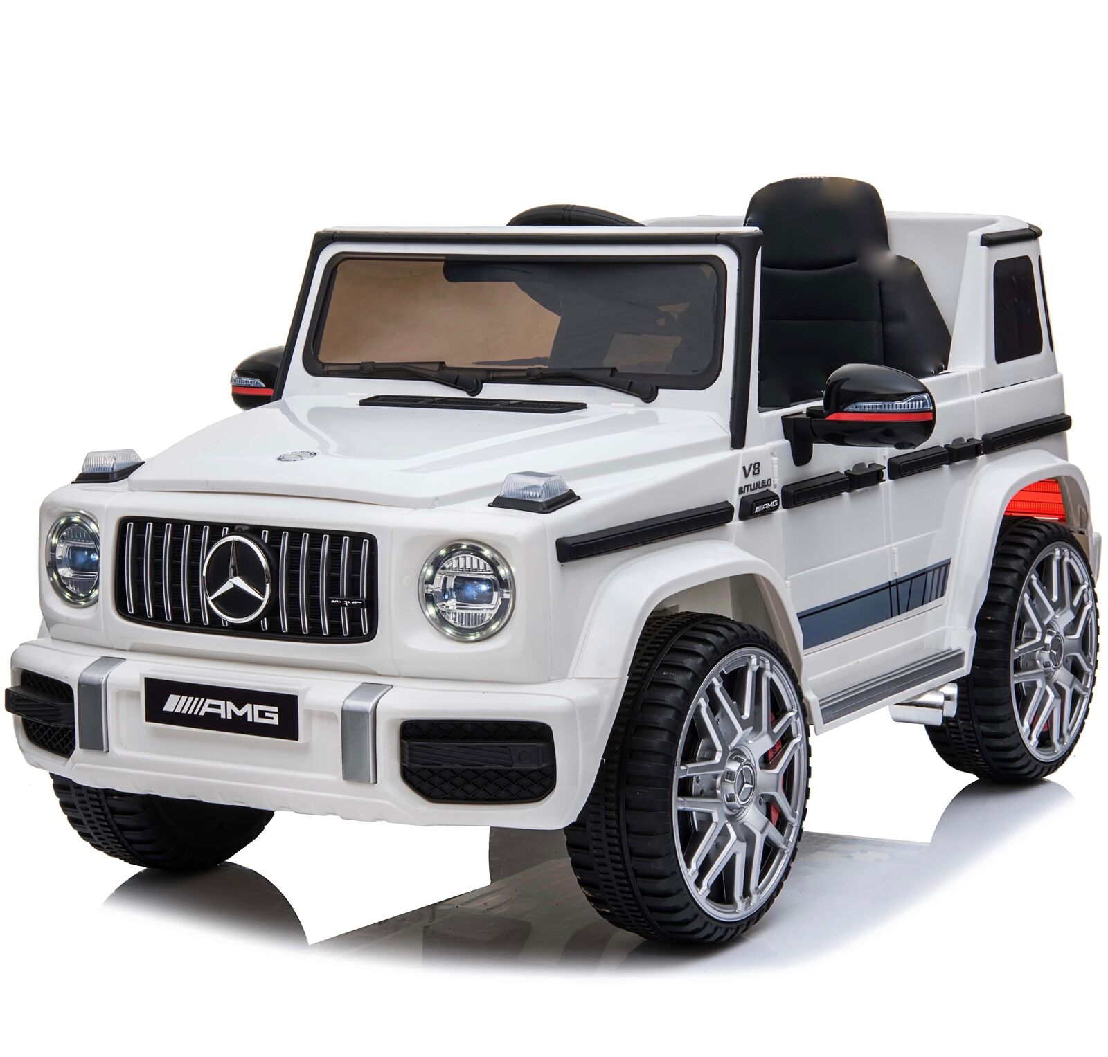 Kids Licensed Mercedes G63 12v Electric Ride On Car Jeep Suv 4x4 White Remote For Sale Online Ebay
