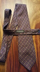 Coach designer tie (56'' x 3.5'') (100% italian silk, made in USA)