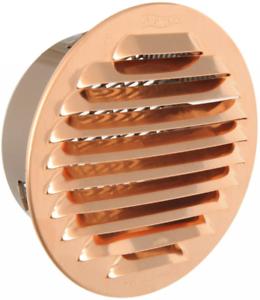 La ventilation gtrp100r-y Grille ronde à encastrer, cuivre, 125 mm, Cuivre
