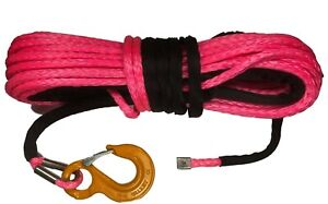 100 ft 10mm Synthetic Winch Rope /& Hawse UHMwPE Suits self recovery 4x4