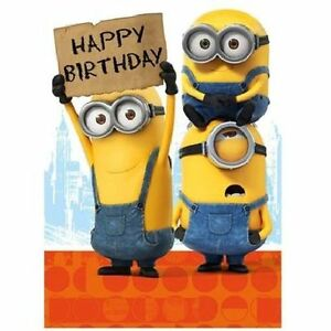 ich einfach unverbesserlich minions alles gute zum geburtstag general 89923184219 ebay. Black Bedroom Furniture Sets. Home Design Ideas