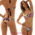 Bikini costume push up brasiliana due pezzi multicolor moda mare donna B2309