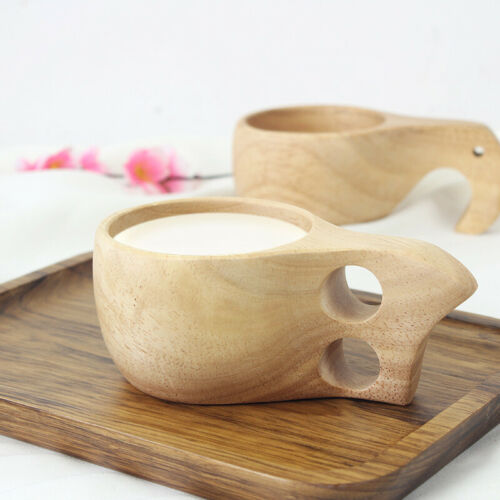 Handmade Wooden Cup Lapland Kuksa Tea Coffee Milk Drinking Mug Birthday Gift