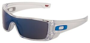 Oakley Batwolf Sunglasses OO9101-07 Polished Clear | Ice Iridium Lens | BNIB