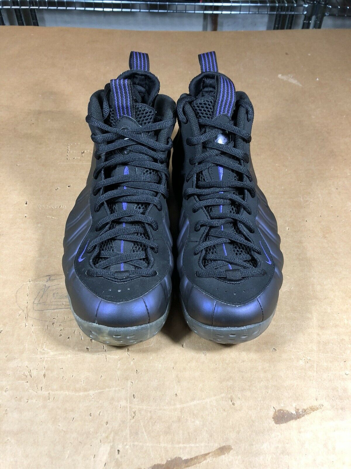 100% Authentic Nike Air Foamposite One Eggplant Size 9 314996 051