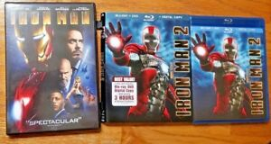4-Discs-Marvel-Iron-Man-1-DVD-amp-Iron-Man-2-3-Disc-Blu-ray-DVD-Dig-Slipcover