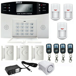 wireless lcd gsm sms home security burglar house fire alarm system auto dialer w ebay. Black Bedroom Furniture Sets. Home Design Ideas