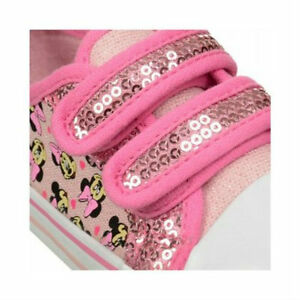 MINNIE MOUSE Blush & Bashful Toddler Sneakers Shoes Velcro Sequin PINK 10 11 NEW