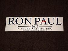 Ron Paul TX Republican Libertarian 2012 President Campaign Bumper Sticker White