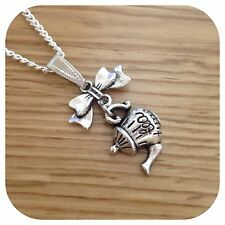 *Alice in Wonderland* mini Bow tea time teapot Necklace