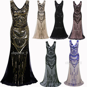 1221062316a Ball Gown 1920s Flapper Dress Gatsby Party Wedding Evening Dresses ...