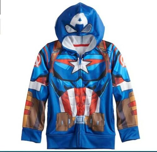 Marvel Avengers CAPTAIN America Hoodie NeW Boys size 10//12 Zip-Up Jacket NWT