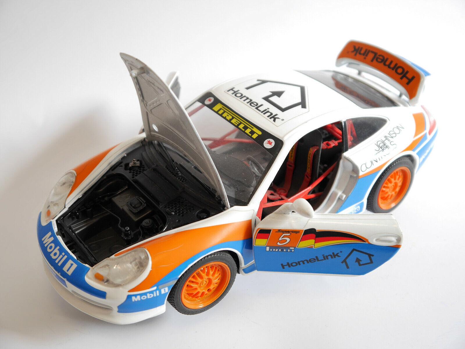 Supercup Rennwagen racing car Porsche 911 996 HOMELINK, Bburago Werbemodell 1 18